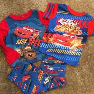4T 3-piece McQueen pajamas PJs
